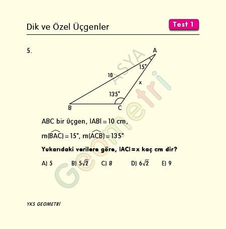 15 30 135 üçgeni soruları