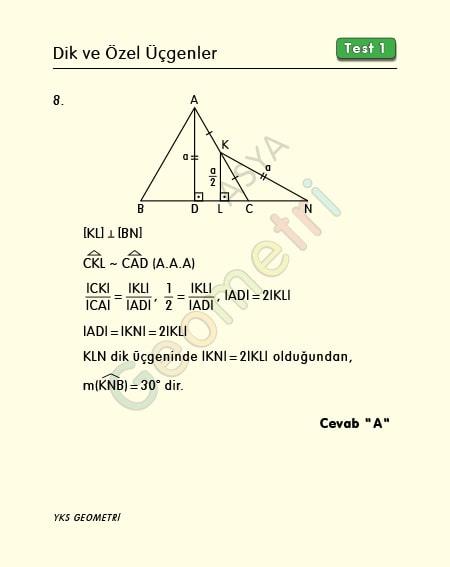30 60 90 üçgeni soru çözümü