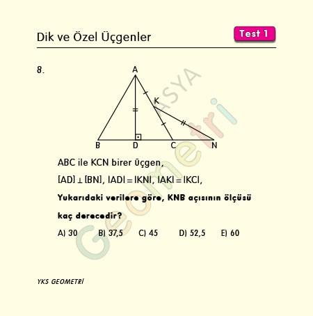 30 60 90 üçgeni soruları