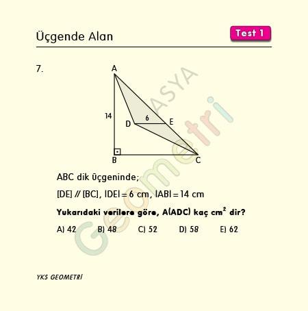 üçgen alan soruları