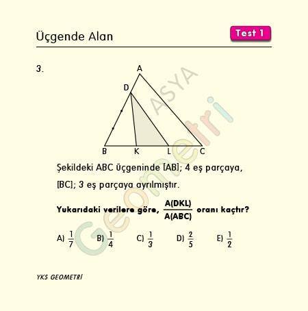 üçgende alan soruları kolay