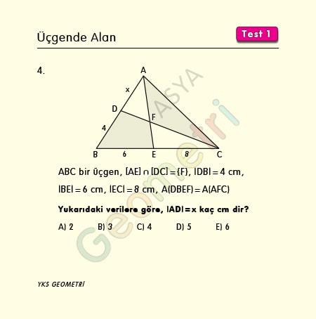 üçgenin alanı soruları