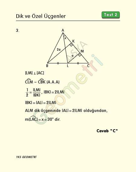 30 60 90 üçgeni çözümlü sorular