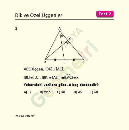 özel üçgen soru