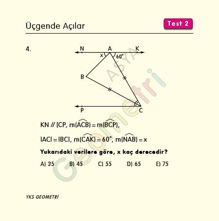 üçgende açılar çözümlü sorular 9. sınıf