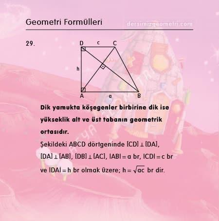 dik yamuk formülleri