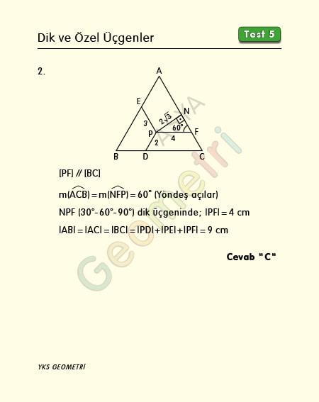 eşkenar üçgen soru çözümü