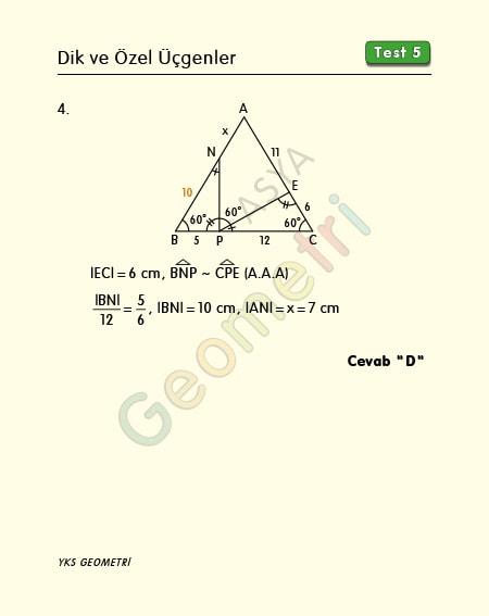 eşkenar üçgen soruları ve çözümleri