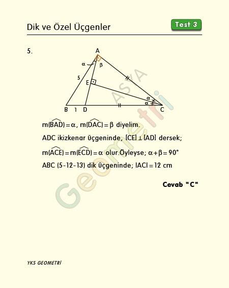 ikizkenar üçgen soru çözümü