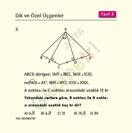 ikizkenar üçgen uzunluk soruları