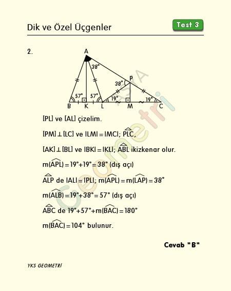 ikizkenar üçgende açı soru çözümü