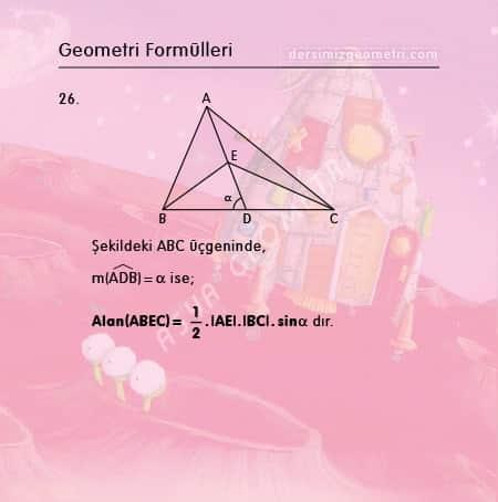 sinüslü alan formülü üçgen