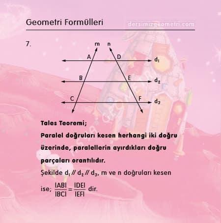 tales teoremi formülü