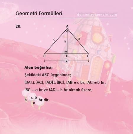 üçgende alan formülleri